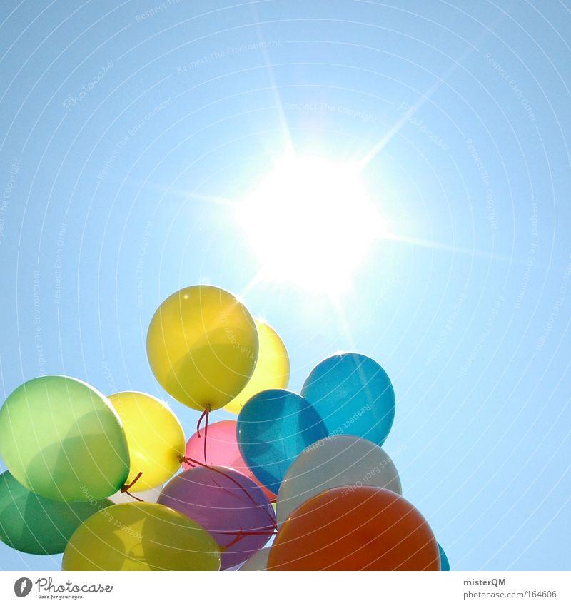Auf zur Sonne. Natur schön Freude Ferien & Urlaub & Reisen oben Gefühle Stil Glück Wege & Pfade träumen hell Wetter Kunst Feste & Feiern lustig