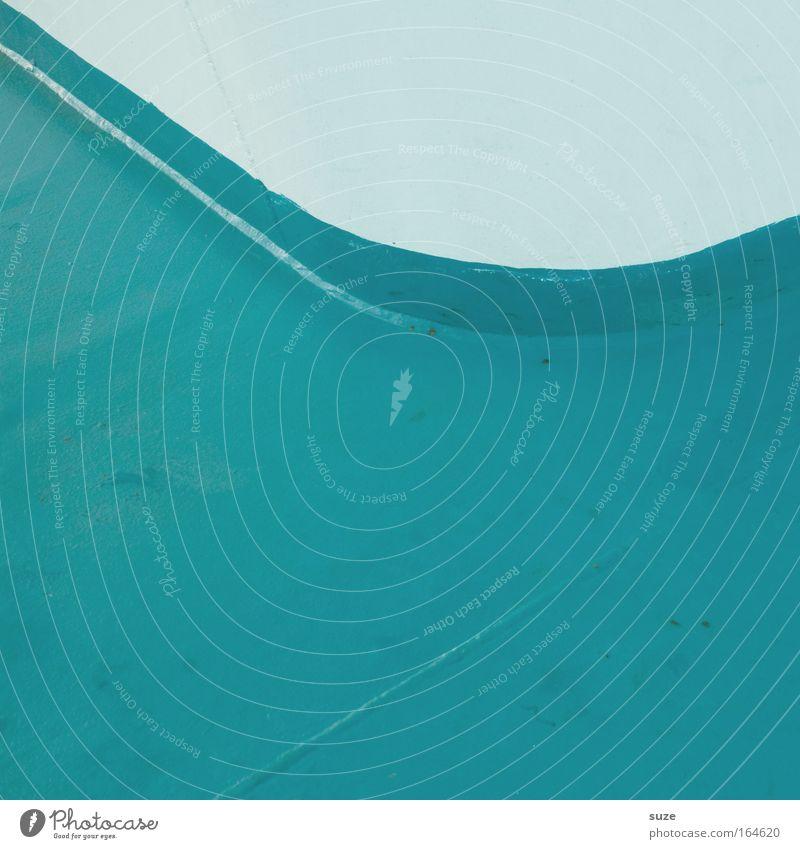 Bogen Türkis weiß kalt Wand Mauer Stil Metall Linie Fassade Schilder & Markierungen Design rund Grafik u. Illustration einfach Zeichen türkis Stahl