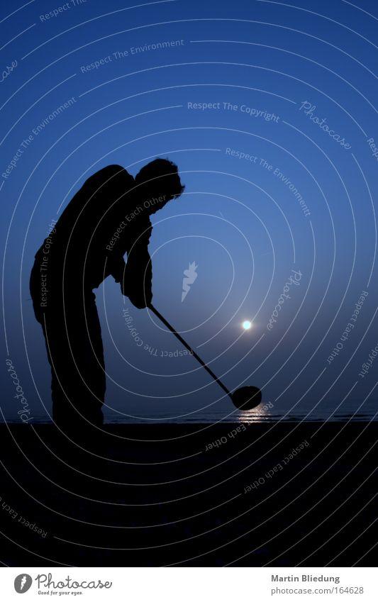 golfing the sun Freude Sport Golf Ball Golfplatz Leben Wolkenloser Himmel Sonne Sonnenaufgang Sonnenuntergang Wellen Strand Meer Wasser Spielen Coolness frei