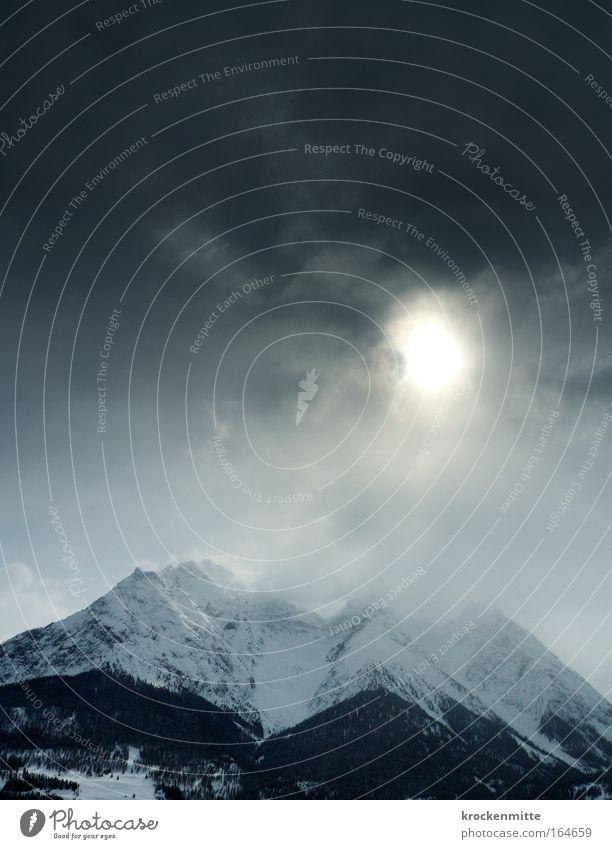 Firnelicht Natur Himmel Sonne Winter Wolken dunkel Schnee Berge u. Gebirge Landschaft Eis Umwelt Frost bedrohlich Schweiz Alpen Gipfel