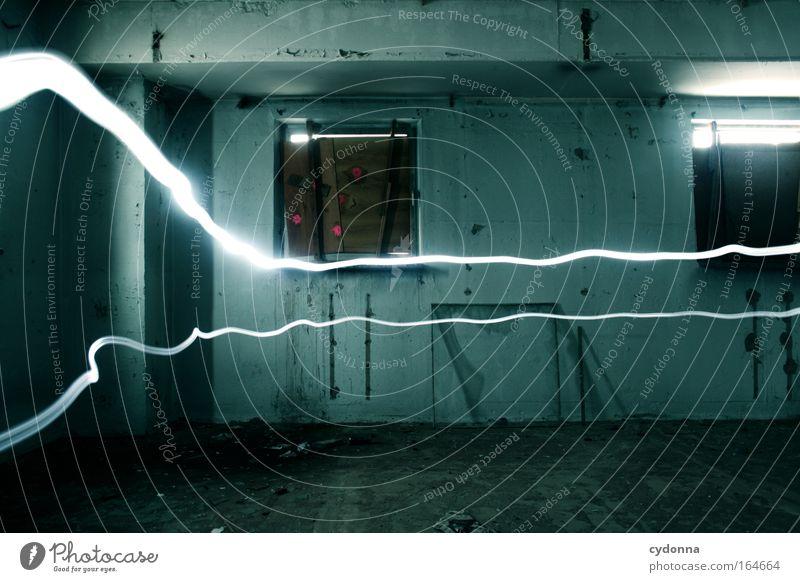 Angefangen Ferien & Urlaub & Reisen Wand Fenster Bewegung Freiheit Traurigkeit Mauer Linie Raum Kraft Angst planen Zeit Energiewirtschaft ästhetisch Abenteuer