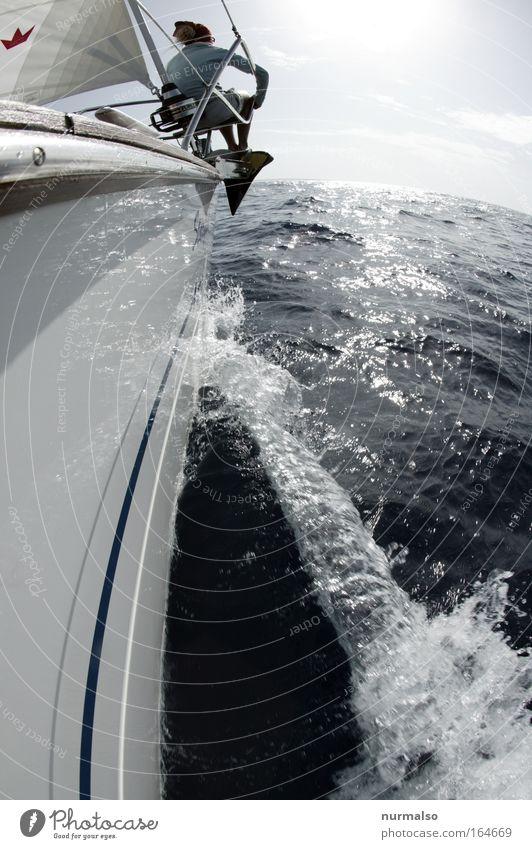 dem Ziel entgegen Natur Wasser Sonne Meer Sommer Ferien & Urlaub & Reisen Wolken Ferne Sport Freiheit Wellen Küste Wind Erfolg Horizont Abenteuer