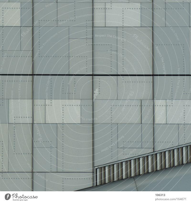 Fotonummer 119566 Farbe Wand Architektur grau Mauer Linie träumen außergewöhnlich Treppe Grafik u. Illustration Punkt Bild Comic Surrealismus graphisch
