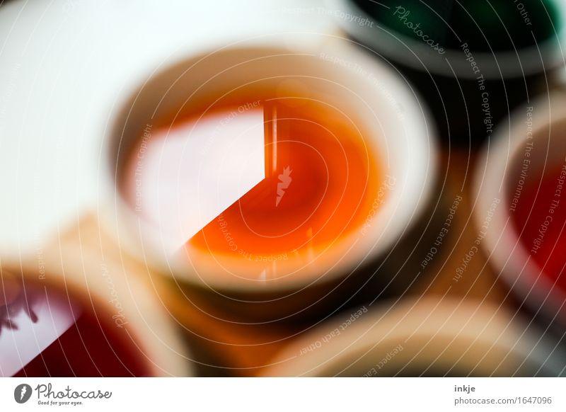 Fensterfarbe Freizeit & Hobby Ostern Farbe Farbtopf Osterei färben mehrfarbig orange Kreativität Farbfoto Innenaufnahme Nahaufnahme Detailaufnahme Experiment
