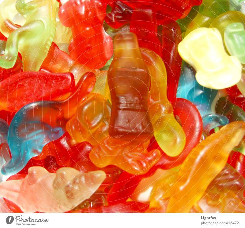 Gib Gummi Junge mehrfarbig Gummibärchen Ernährung lecker Kalorie süß dick Cola Dinosaurier Dickmacher