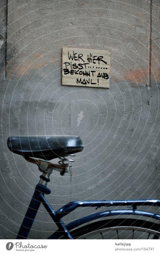 du bist deutschland Fahrrad Wand Stein Metall Schilder & Markierungen Schriftzeichen Häusliches Leben Denken Warnhinweis fahren Metallfeder Meinung Reifen