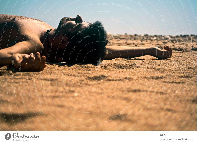 abliegen Sonne Ferien & Urlaub & Reisen Meer Sommer Strand ruhig Erholung Wärme braun Freizeit & Hobby Tourismus schlafen weich Warmherzigkeit Stranddüne