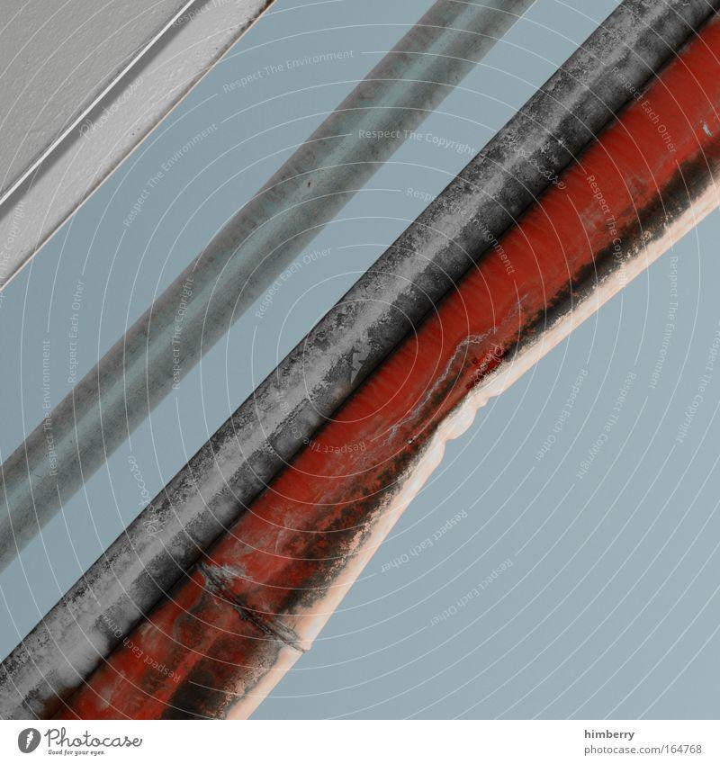 knick in der leitung alt rot grau Metall dreckig Design Energiewirtschaft Zukunft Industrie Baustelle Technik & Technologie einzigartig einfach Wissenschaften