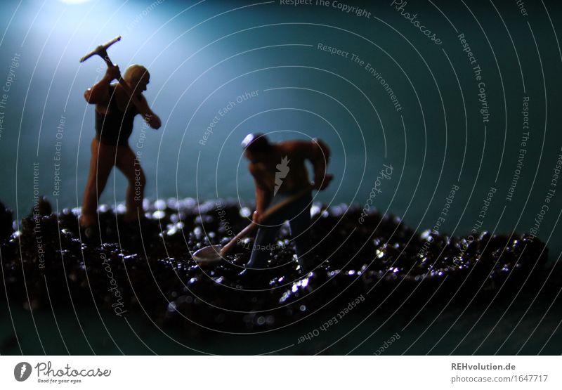 Nachtschicht Mensch Mann Erwachsene Bewegung klein Stimmung Arbeit & Erwerbstätigkeit maskulin Zufriedenheit dreckig Baustelle Team Beruf Stress