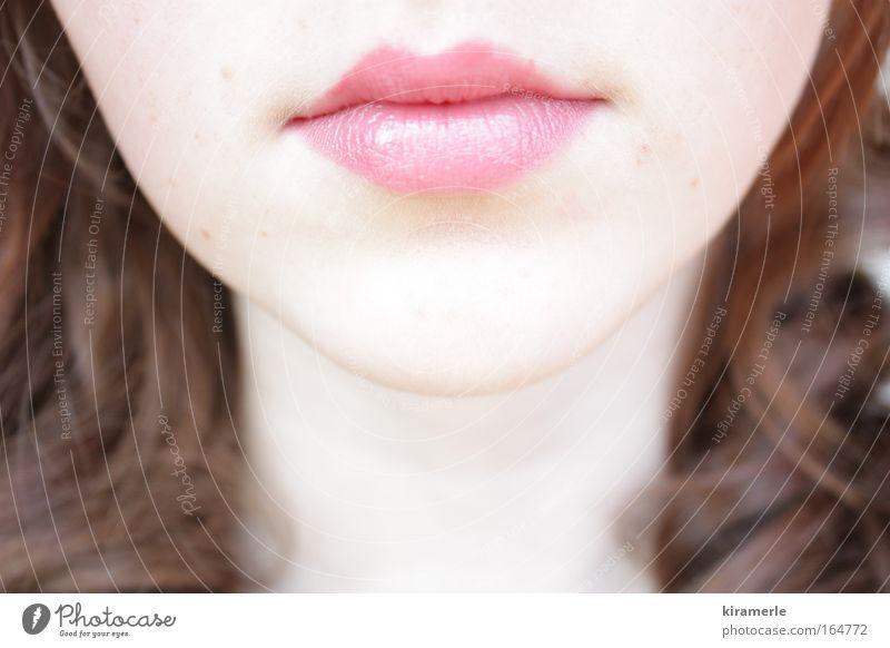Schneeweiß und Rosenrot Frau Mensch Jugendliche schön ruhig Erwachsene Gesicht feminin Leben Gefühle Kopf Haare & Frisuren braun Mund rosa