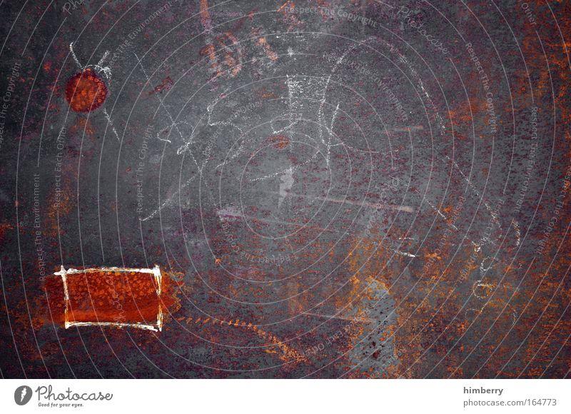 schlachtplan alt Farbe Metall braun Hintergrundbild dreckig Design planen kaputt Schriftzeichen außergewöhnlich Zukunft Industrie Baustelle einzigartig