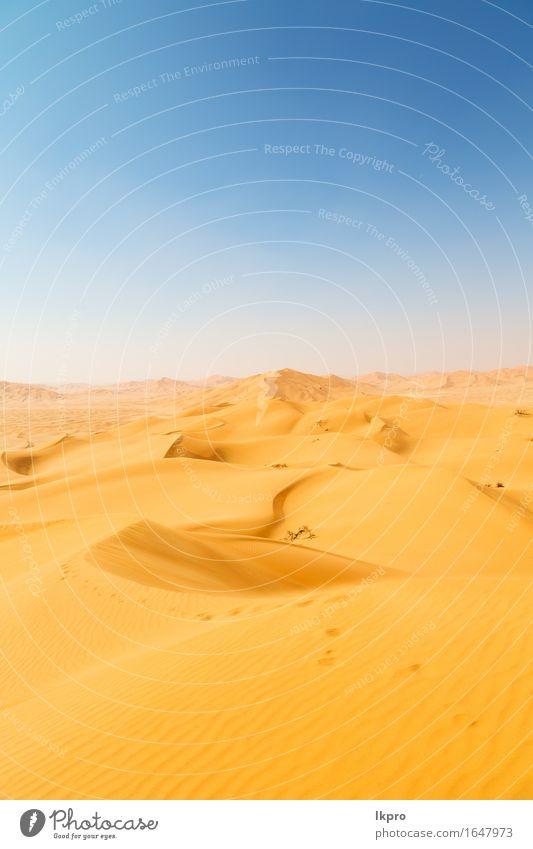Sanddüne in Oman alten Wüste Rub al khali Himmel Natur Ferien & Urlaub & Reisen schön Sommer weiß Sonne Landschaft Einsamkeit schwarz gelb grau Stein Felsen