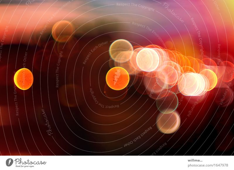 bunte Lichtkreise , Blendenflecke Lifestyle harmonisch Wohlgefühl leuchten gelb rosa Unschärfe Lichtspiel Lebensfreude Drogenrausch Illusion Lichtschein