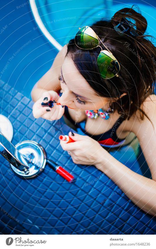 schminken Lifestyle elegant Stil Design exotisch Freude Schminke Nagellack Leben harmonisch Schwimmbad Schwimmen & Baden Freizeit & Hobby Abenteuer Freiheit