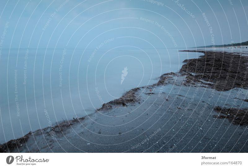 OSTSEE Natur Wasser Himmel Meer blau Winter Strand Ferien & Urlaub & Reisen Einsamkeit Ferne grau träumen Sand Landschaft Küste groß