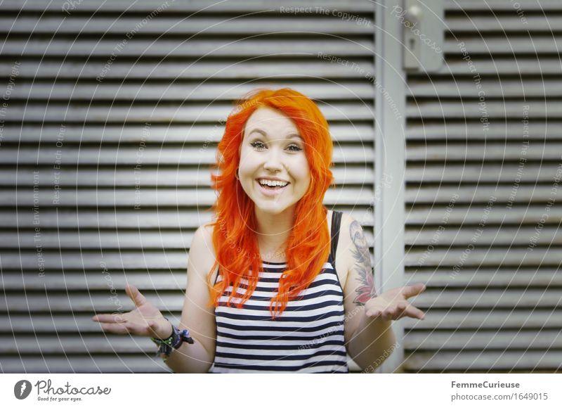 CityGirl_ID1649015 Lifestyle Stil schön Haare & Frisuren feminin Junge Frau Jugendliche Erwachsene Mensch 13-18 Jahre 18-30 Jahre Freude Identität einzigartig