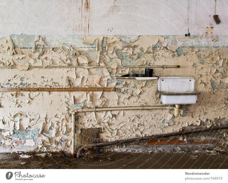 Schatz....wo ist die Dusche? Architektur Traurigkeit Raum Lifestyle Industrie Bad Fabrik Verzweiflung Karriere Renovieren Lebenslauf Industrieanlage