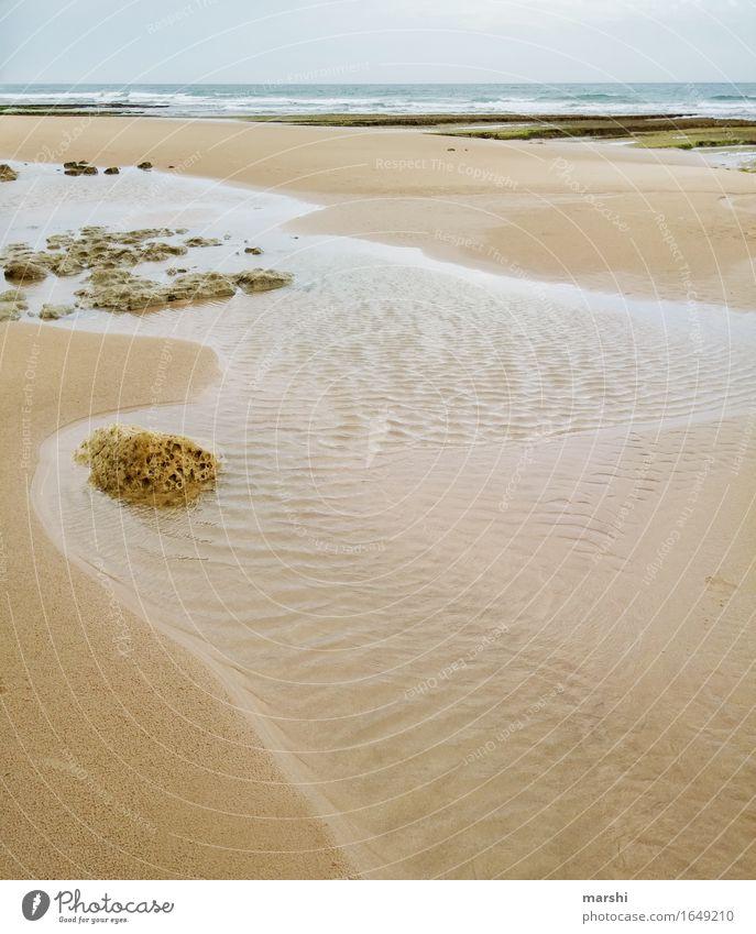 Flut & Ebbe Erholung Ferien & Urlaub & Reisen Ferne Sommer Strand Meer Landschaft Wasser Wind Stimmung Portugal Algarve Reisefotografie Farbfoto Außenaufnahme
