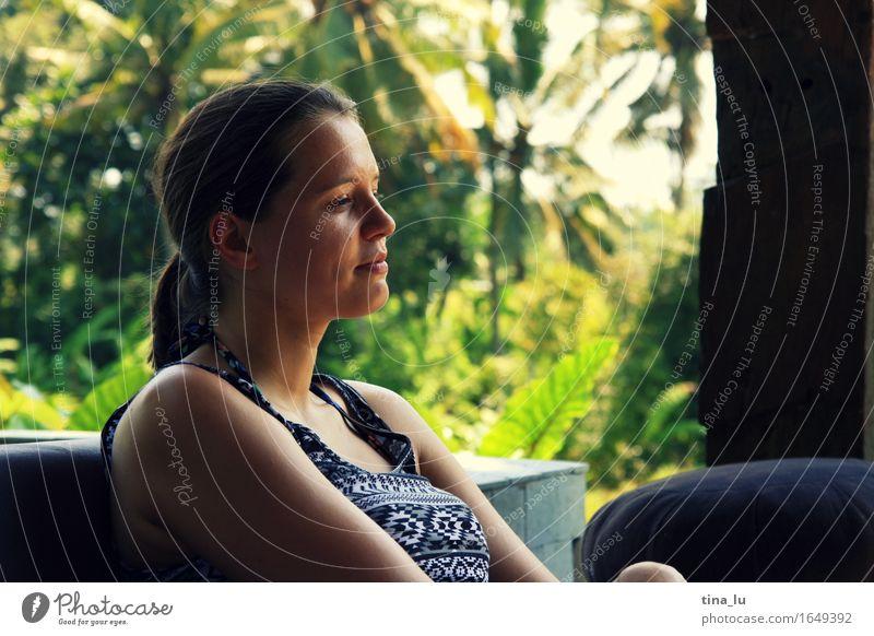 Entspannen in Ubud schön Wellness Erholung Meditation Ferien & Urlaub & Reisen Tourismus Abenteuer Junge Frau Jugendliche 1 Mensch 18-30 Jahre Erwachsene Sommer