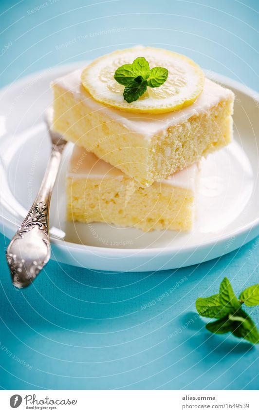 Zitronenkuchen Kuchen zitronenkuchen blechkuchen Dessert Backwaren Geschmackssinn aromatisch Speise Essen Foodfotografie Lebensmittel Gesunde Ernährung lecker