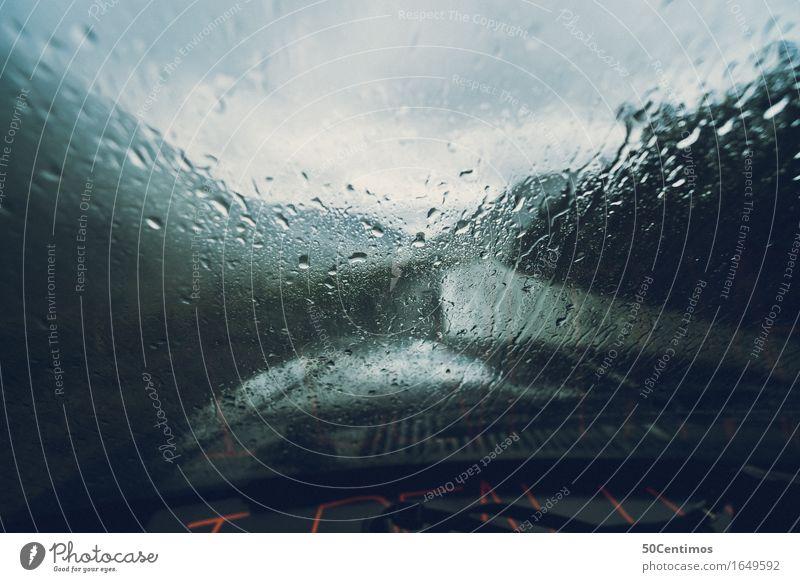 A rainy day Ausflug Wind Sturm Regen Gewitter Berge u. Gebirge Verkehrsmittel Verkehrswege Autofahren Straße Ferien & Urlaub & Reisen Abenteuer entdecken