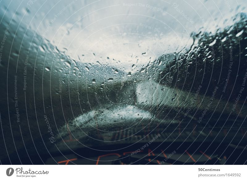 A rainy day Ferien & Urlaub & Reisen Wasser Erholung Berge u. Gebirge Straße Freiheit Regen Freizeit & Hobby Wind Ausflug Abenteuer fahren entdecken Sturm
