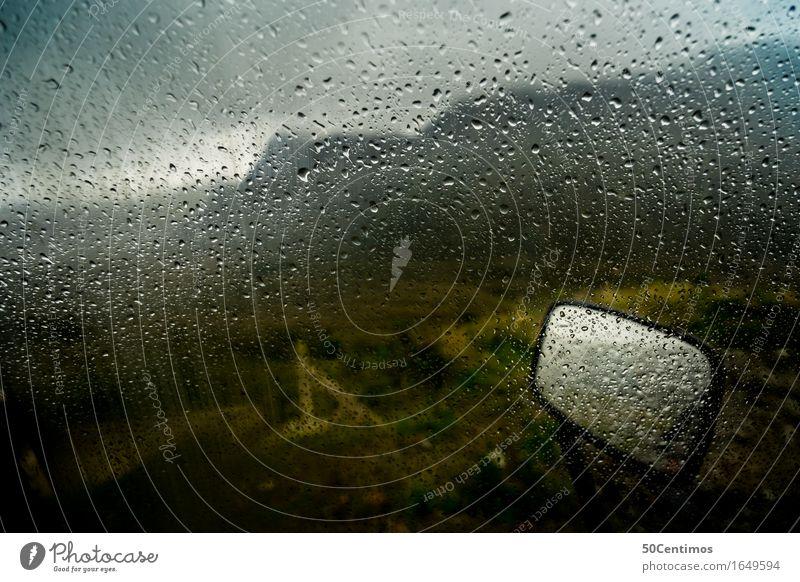 Rainy Roadtrip in the mountains Natur Ferien & Urlaub & Reisen Erholung Einsamkeit Wolken ruhig Ferne Berge u. Gebirge Umwelt Freiheit Regen Nebel Freizeit & Hobby Verkehr PKW Wind