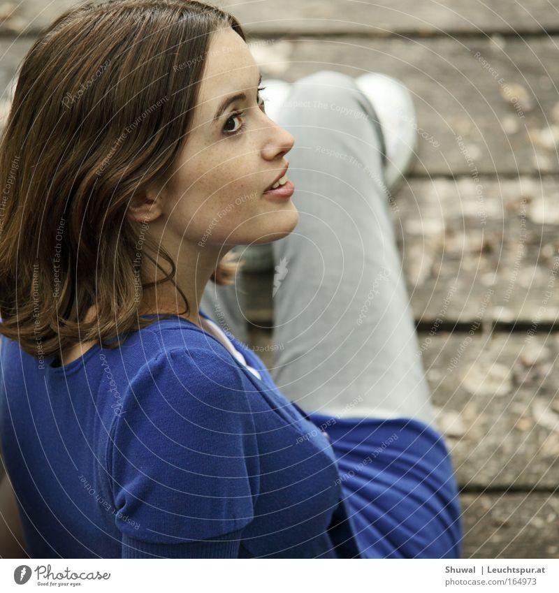 Vois Sur Ton Chemin Mensch Frau Jugendliche blau Ferien & Urlaub & Reisen Sommer Freude Gesicht Erwachsene feminin Gefühle Religion & Glaube Glück Zufriedenheit