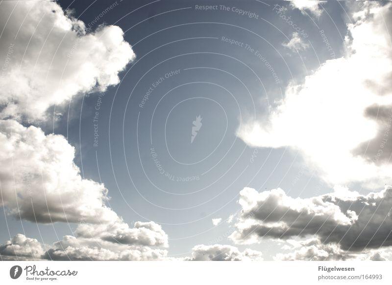 Du schließt den Himmel über Deutschland auf... Farbfoto Außenaufnahme Menschenleer Textfreiraum Mitte Tag Natur Luft nur Himmel Wolken Horizont Sonne