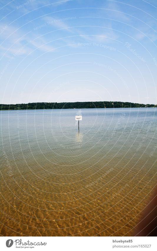 Nichtschwimmer Farbfoto Außenaufnahme Menschenleer Tag Licht Zentralperspektive Umwelt Natur Landschaft Wasser Himmel Sonnenlicht Schönes Wetter Wärme Wellen