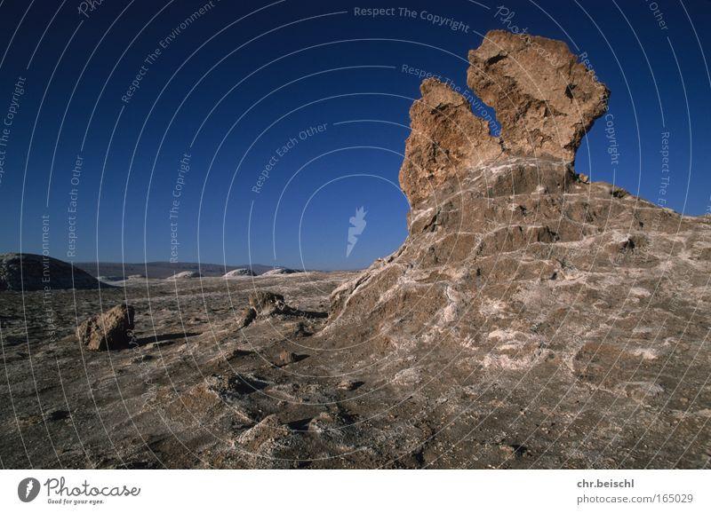 Wüstenwächter Natur alt blau Ferien & Urlaub & Reisen ruhig Ferne Berge u. Gebirge Landschaft Umwelt Erde braun Erde Horizont Felsen groß Urelemente