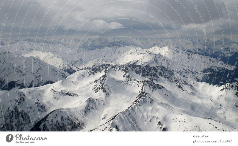 Vogelperspektive Umwelt Natur Landschaft Erde Winter Wetter schlechtes Wetter Wind Eis Frost Schnee Wildpflanze Alpen Berge u. Gebirge bei Insbruck Gipfel