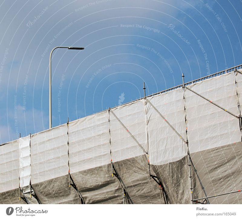 Brückensanierung Himmel weiß blau Wolken Straße Arbeit & Erwerbstätigkeit hell Straßenverkehr Verkehr Güterverkehr & Logistik Baustelle Autobahn Verkehrswege
