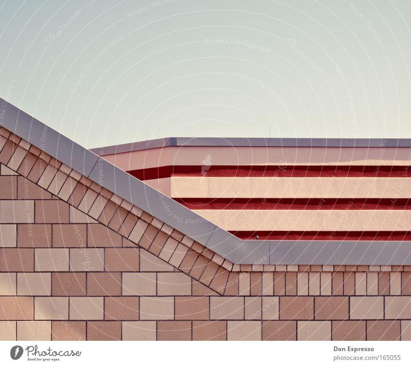 Summermood Stadt Wand Stein Mauer Gebäude Wärme Linie Architektur Design Fassade weich Bauwerk