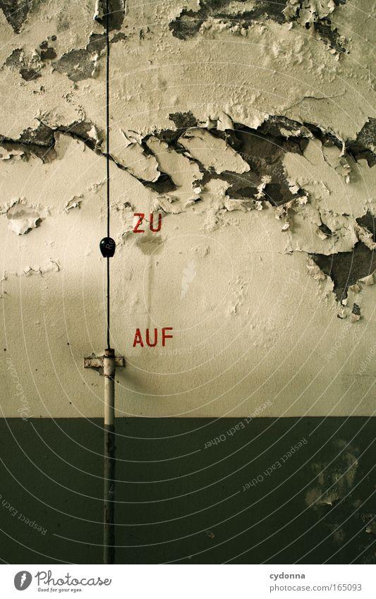 ZU / AUF Leben Wand Bewegung Mauer Zeit Zufriedenheit ästhetisch Schriftzeichen Perspektive Zukunft planen Wandel & Veränderung Technik & Technologie