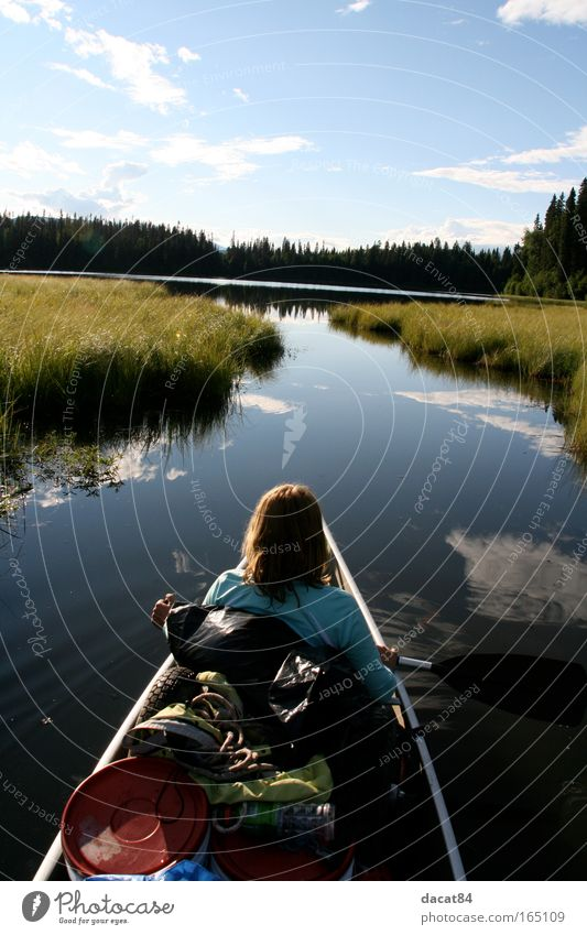 lets go Natur Ferien & Urlaub & Reisen Sommer Ferne Umwelt Landschaft Freiheit See Zufriedenheit Ausflug Abenteuer Tourismus Fluss Neugier Kanu Sommerurlaub