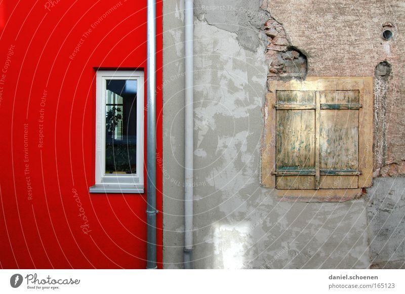 Renovierung Wand Mauer Fassade Baustelle Anstreicher Handwerker