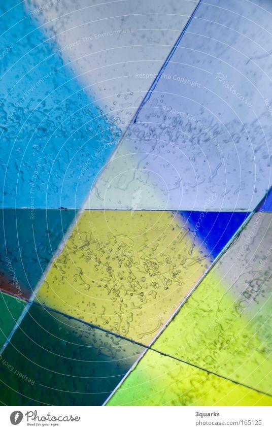 plastikfolie schön grün blau gelb Farbe Bewegung Linie glänzend abstrakt Design verrückt ästhetisch außergewöhnlich Kunststoff bizarr Surrealismus
