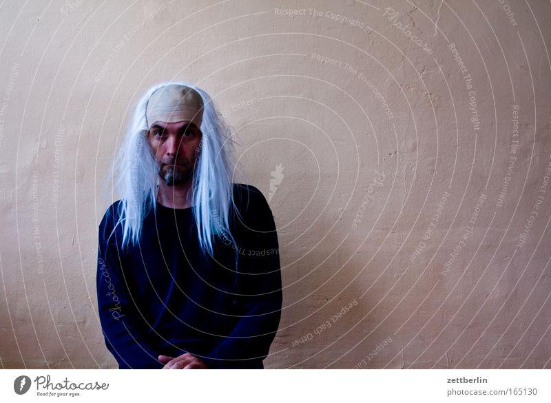 Perücke Mensch Mann alt weiß Senior Haare & Frisuren Maske Karneval lang Ruhestand Versicherung langhaarig 50 Karnevalskostüm Altersversorgung Kapitalwirtschaft