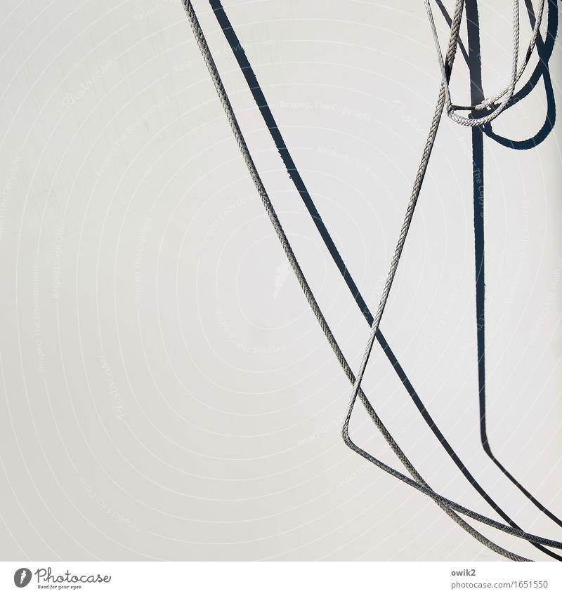 Marina Schifffahrt Jacht Segelboot Bordwand Seil Kunststoff hängen dünn einfach fest maritim Reinheit bescheiden zurückhalten sparsam rein Sicherheit Oberfläche