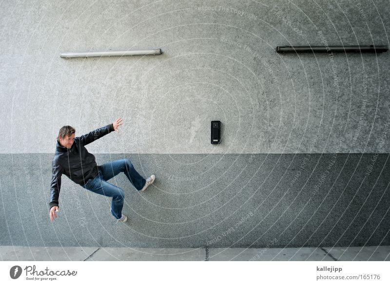 freerunning Außenaufnahme Blick nach vorn Lifestyle Stil Freizeit & Hobby Spielen Klettern Bergsteigen 1 Mensch 30-45 Jahre Erwachsene Jugendkultur Fitness
