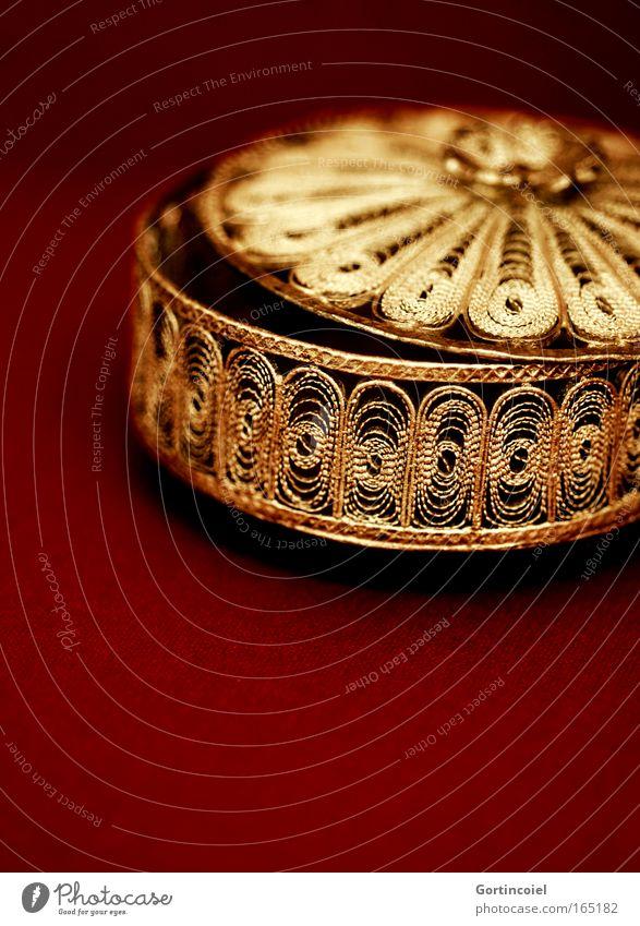 Oriental schön rot Stil Metall glänzend Gold Design elegant gold rund offen Kitsch Dekoration & Verzierung geheimnisvoll Reichtum Schmuck