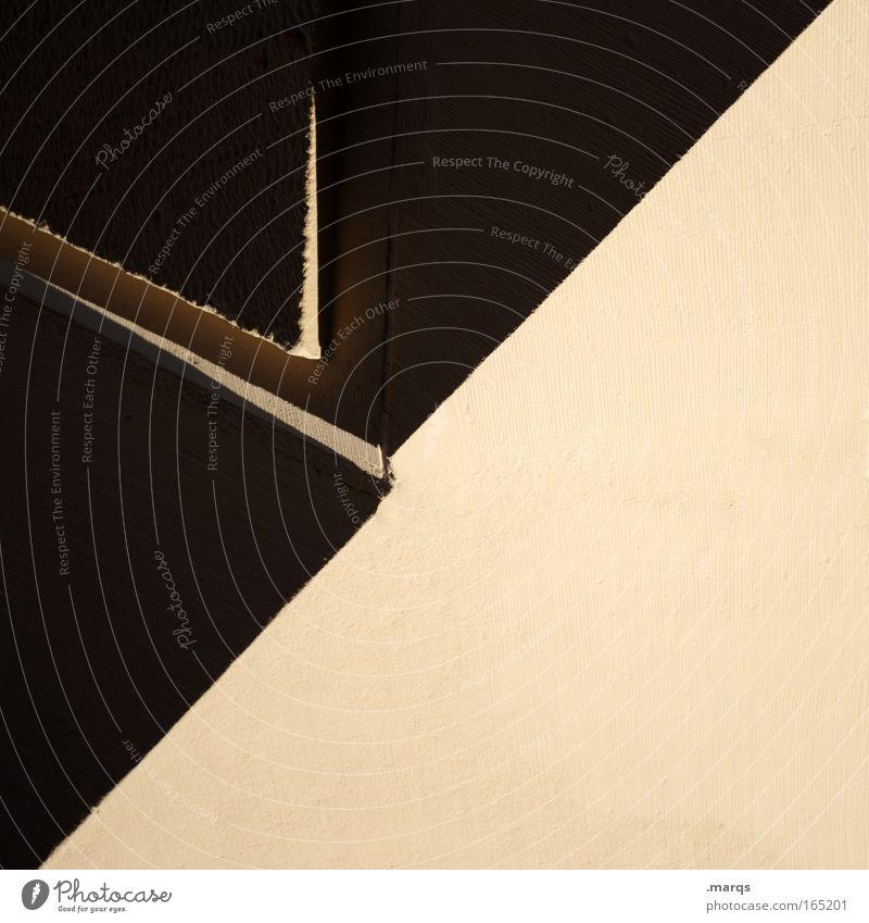 50|50 Farbfoto Außenaufnahme Experiment abstrakt Textfreiraum unten Schatten Stil Design Gebäude Architektur Fassade Pfeil ästhetisch außergewöhnlich eckig