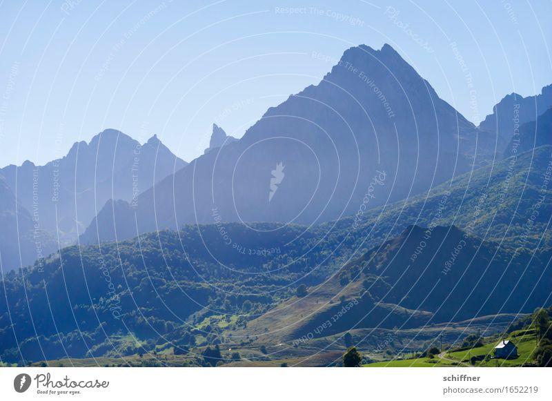 Tisch der Drei Könige Umwelt Natur Landschaft Pflanze Wolkenloser Himmel Schönes Wetter Wiese Wald Felsen Berge u. Gebirge Gipfel blau grün