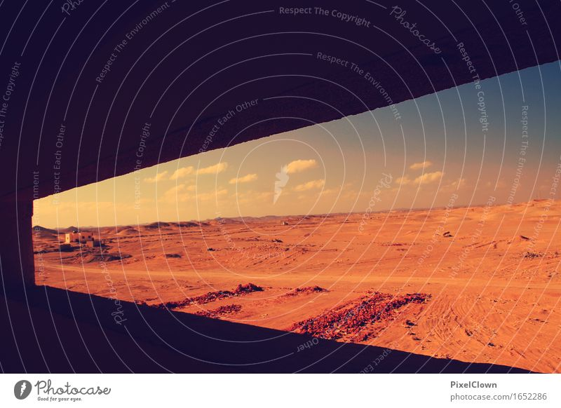 Wüste Ferien & Urlaub & Reisen Tourismus Abenteuer Ferne Safari Natur Landschaft Sand Wärme Dürre trocken orange Gefühle Farbfoto Sonnenstrahlen