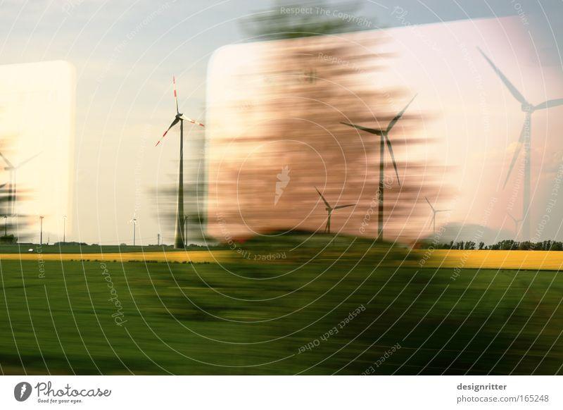 Drive with the wind Ferien & Urlaub & Reisen Bewegung Erfolg groß Verkehr Eisenbahn Industrie Hoffnung Energiewirtschaft Elektrizität fahren