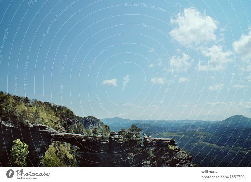 #prebischtor Natur Landschaft Ferne Berge u. Gebirge Felsen Aussicht Tschechien Felsentor Böhmische Schweiz