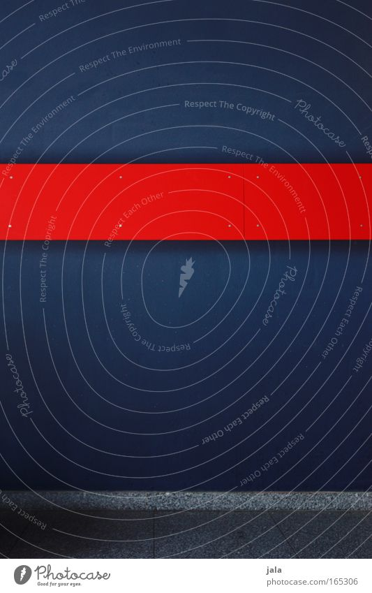 Study in Red & Blue Wand Linie Design modern ästhetisch authentisch einfach Teilung deutlich Geometrie