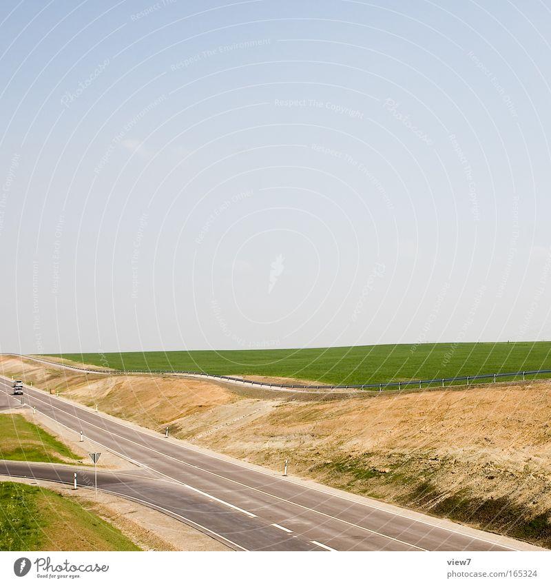 graues Band blau grün schön Ferien & Urlaub & Reisen Sommer Ferne gelb Straße Umwelt Freiheit Wege & Pfade Ausflug modern groß Verkehr ästhetisch