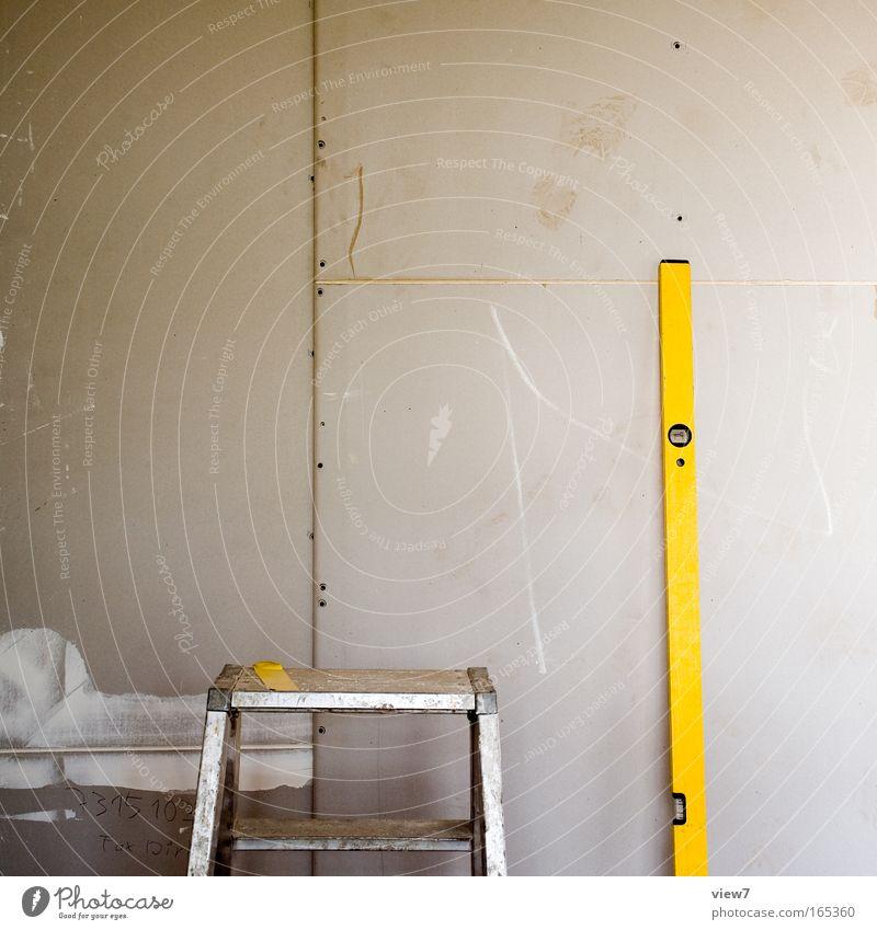 trocken bauen gelb Wohnung Innenarchitektur Ordnung natürlich ästhetisch Perspektive authentisch Pause einfach Umzug (Wohnungswechsel) Werkzeug Renovieren